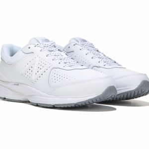 411 v2 White Leather Sneakers